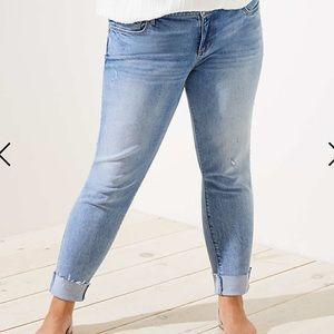 70ca2014e1437 LOFT Jeans - NEW LOFT PLUS 18W PEARL TRIM FLIP CUFF SKINNY JEAN